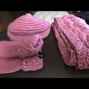 Accessories - Set of Gloves, Scarf, Hat- NEW! ROSE PINK